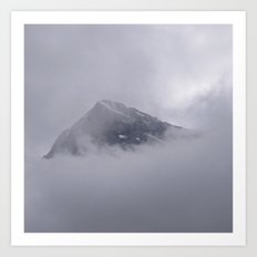 Eiger and Clouds Art Print