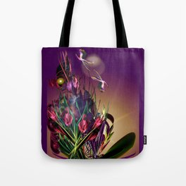 Sunset Butterflies Tote Bag