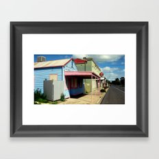 Colourful abandoned shop in rural Town ~ Australia Framed Art Print