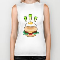 egg Biker Tanks featuring EGG by grandsloop