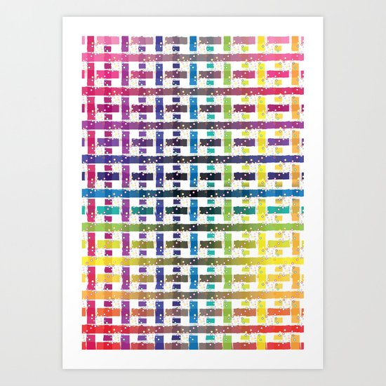 Stripes In Colours Art Print