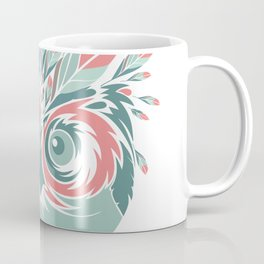 Whimsical Owl Feathers Happy Thanksgiving Coffee Mug
