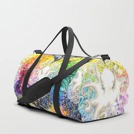 Rainbow Spectrum heart extra dense pattern Duffle Bag
