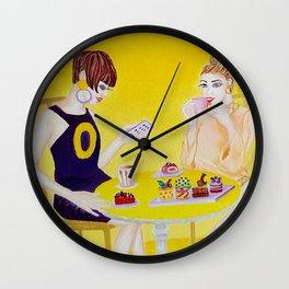 1960 High Tea Vintage Art Wall Clock