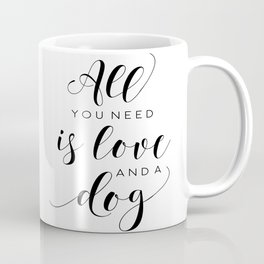 All You Need Is Love Beetles Song Quote Digital Wall For Gift and Office Decor Coffee Mug
