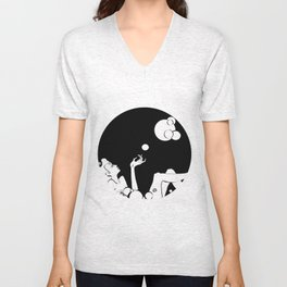 bubble  Unisex V-Neck