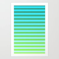 gradient Art Prints featuring Gradient by PYRAMIDS.