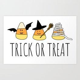 Cute Candy Corn Halloween Art Print