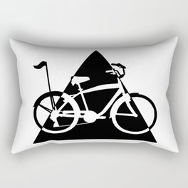 Hipster Triangle - Love my bike Rectangular Pillow