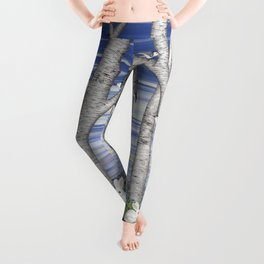 nuthatches, bunnies, and birches Leggings