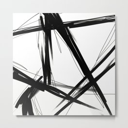 linear form on white ground Metal Print