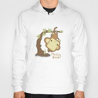 bread Hoodies featuring Monkey Bread by The Little Prints
