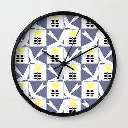 "Koloman (Kolo) Moser ""Textile pattern (Flowers and birds)"" Wall Clock"