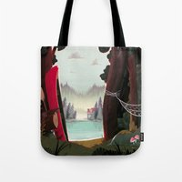beaver Tote Bags featuring Camp Beaver by Manuel Kilger