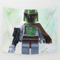 boba fett Wall Tapestries featuring Lego Boba Fett by Toys 'R' Art
