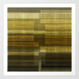 """""""Burlap Texture Greenery Shades"""" Art Print"""
