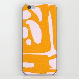 Abstract in Yellow and Cream iPhone Skin