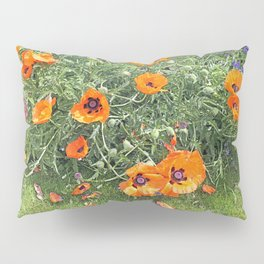 South winds jostle them; poppies in the garden Pillow Sham