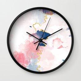 Kintsugi Pastel Marble #kintsugi #gold #japan #marble #pink #blue #home #decor #kirovair Wall Clock