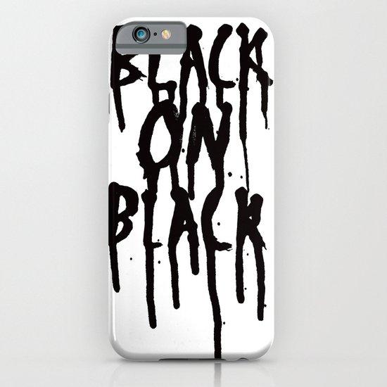 Black on black iPhone & iPod Case