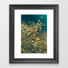 Firework Dandy in Blue Framed Art Print