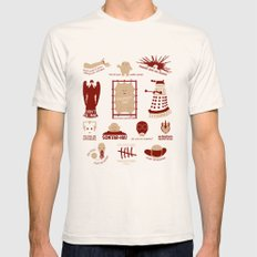 Doctor Who |Aliens & Villains Mens Fitted Tee LARGE Natural