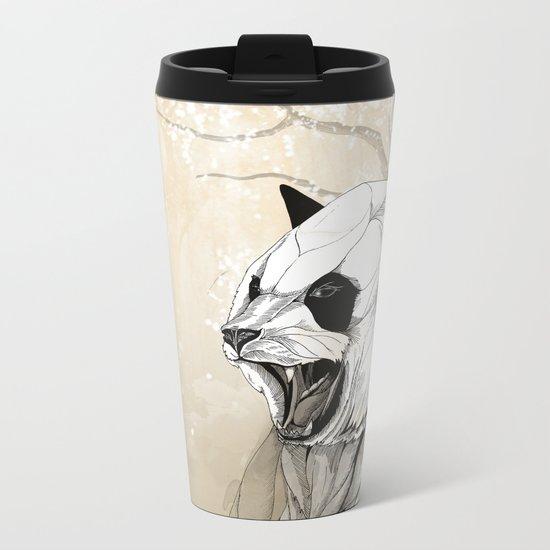 Angry Panda Metal Travel Mug