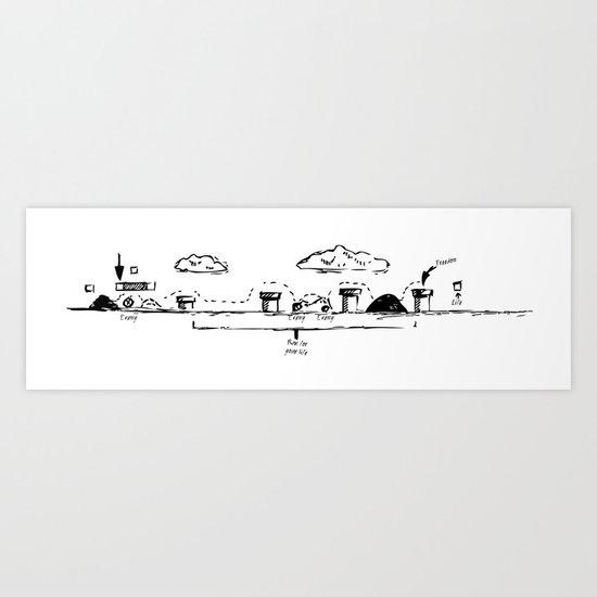 Run Mario,run¡¡ Art Print