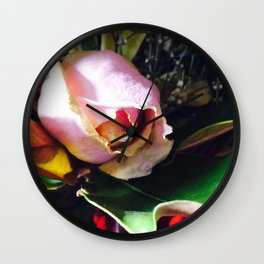 A Flush of Pink Wall Clock
