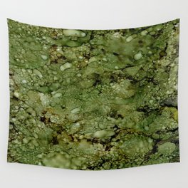 Green Camo Wall Tapestry
