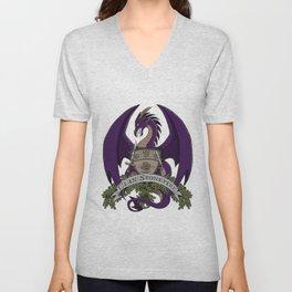 Clan Stonefire Crest - Purple Dragon Unisex V-Neck