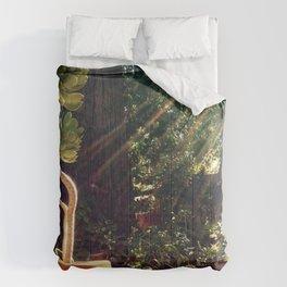 Sunshine on succulents Comforters