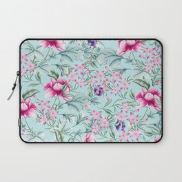 Floral Pattern Mint Laptop Sleeve