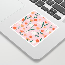 Summertime Floral Pattern Sticker