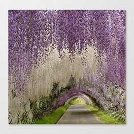 purple road Canvas Print