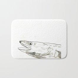 Fish Face 3 Bath Mat