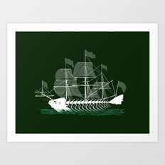 Cutter Fish Art Print