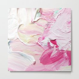 Minty Rose (Abstract Painting) Metal Print
