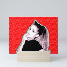 Ariana   Pop Art Mini Art Print