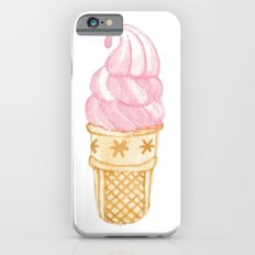 Watercolour Illustrated Ice Cream - Strawberry Swirl iPhone 6 Slim Case