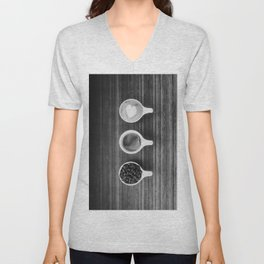 Three Coffee (Black and White) Unisex V-Neck