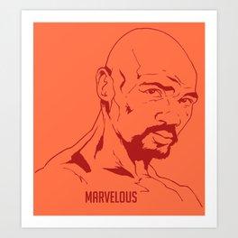 Marvin Hagler Art Print