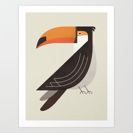 Whimsy Toucan Art Print