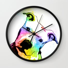 Pit bull | Rainbow Series | Pop Art Wall Clock