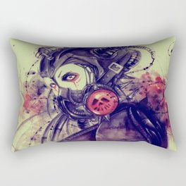 Cyber girl Rectangular Pillow