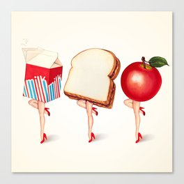 Lunch Ladies Pin-Ups Canvas Print