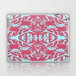 Stag Damask in Pink and Blue Laptop & iPad Skin
