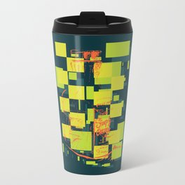 Color Orange Juice Illustration Metal Travel Mug