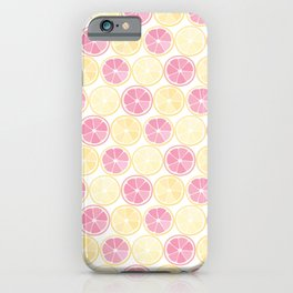 Lemonade Neck Gator Pink and Yellow Lemon Slices Lemonade iPhone Case