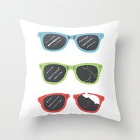 sunglasses Throw Pillows featuring Sunglasses by Things and Other Things